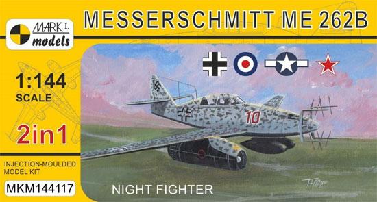 メッサーシュミット Me262B 夜間戦闘機 2in1プラモデル(MARK 1MARK 1 modelsNo.MKM144117)商品画像