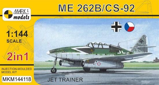 メッサーシュミット Me262B/CS-92 練習機 2in1プラモデル(MARK 1MARK 1 modelsNo.MKM144118)商品画像