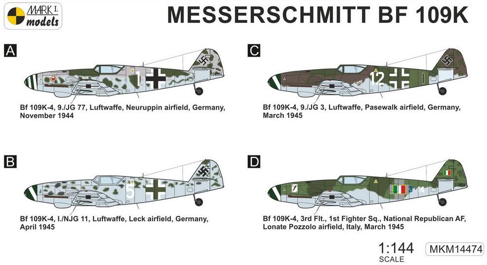 メッサーシュミット Bf109K-4 クーアフュルスト 2in1プラモデル(MARK 1MARK 1 modelsNo.MKM14474)商品画像_1