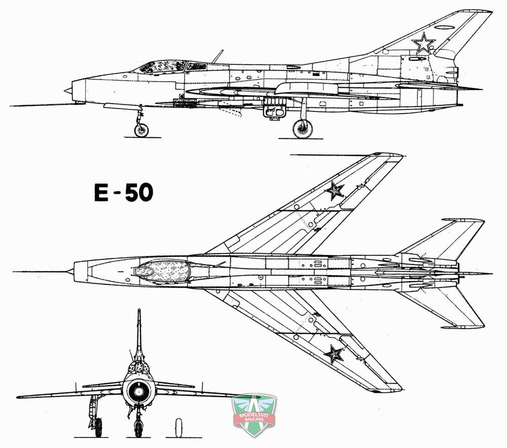 ミコヤン Ye-50 試作混合動力迎撃機プラモデル(モデルズビット1/72 エアクラフト プラモデルNo.7223)商品画像_2