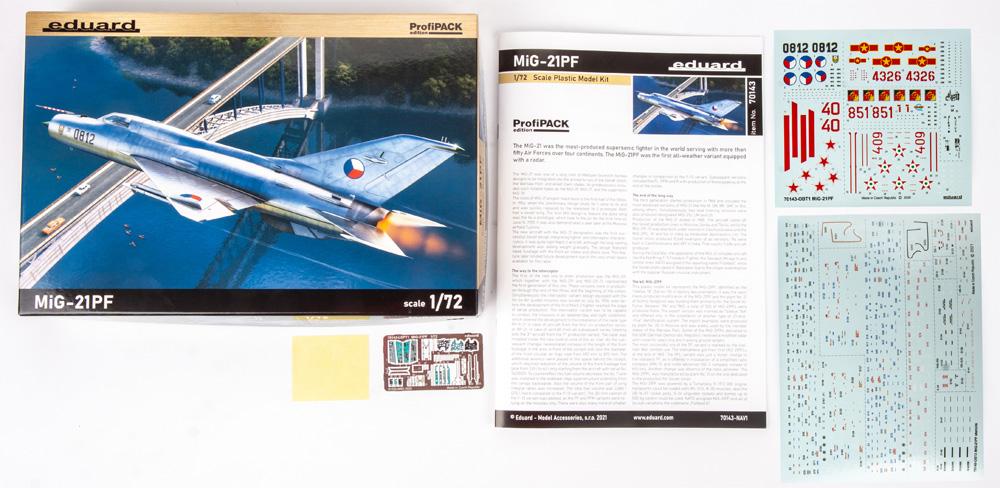MiG-21PFプラモデル(エデュアルド1/72 プロフィパックNo.70143)商品画像_1
