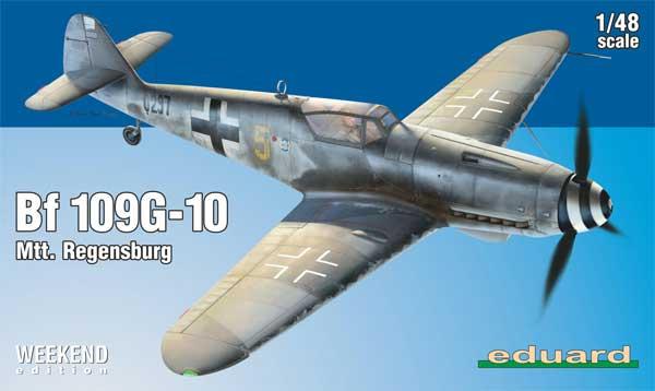 メッサーシュミット Bf109G-10 Mtt. レーゲンスブルク工場製プラモデル(エデュアルド1/48 ウィークエンド エディションNo.84168)商品画像