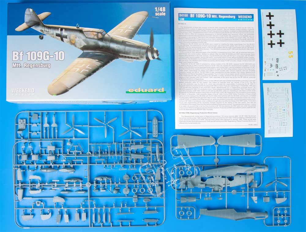 メッサーシュミット Bf109G-10 Mtt. レーゲンスブルク工場製プラモデル(エデュアルド1/48 ウィークエンド エディションNo.84168)商品画像_1