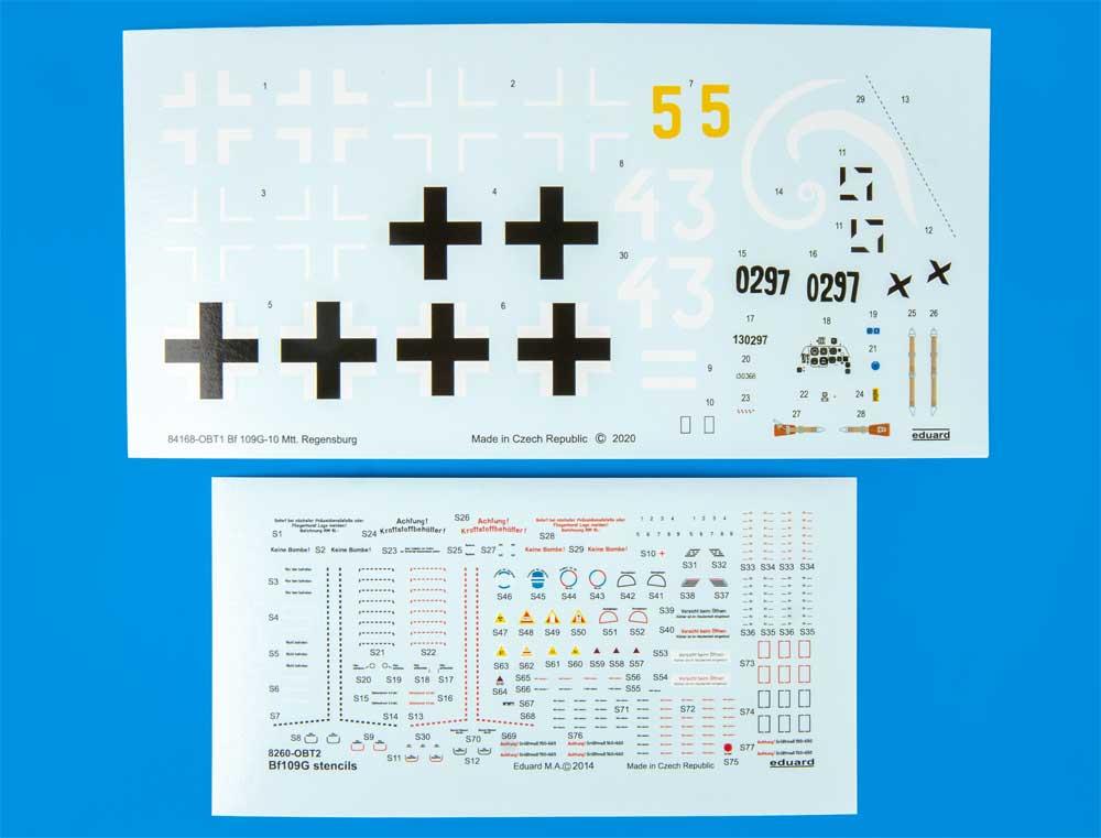 メッサーシュミット Bf109G-10 Mtt. レーゲンスブルク工場製プラモデル(エデュアルド1/48 ウィークエンド エディションNo.84168)商品画像_2