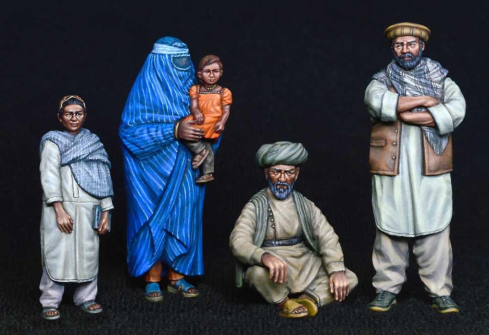 アフガニスタンの市民プラモデル(ミニアート1/35 ミニチュアシリーズNo.38034)商品画像_2