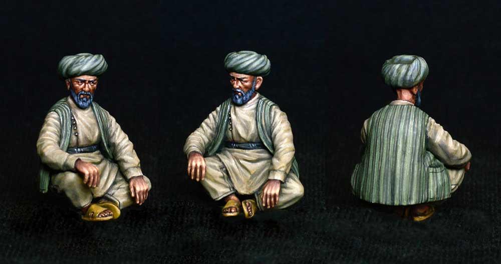 アフガニスタンの市民プラモデル(ミニアート1/35 ミニチュアシリーズNo.38034)商品画像_3