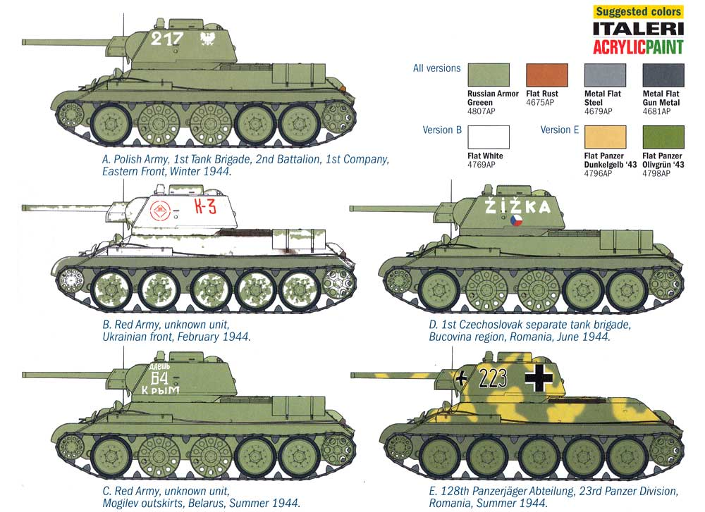 T-34/76 Model 1943プラモデル(イタレリ1/72 ミリタリーシリーズNo.7078)商品画像_1