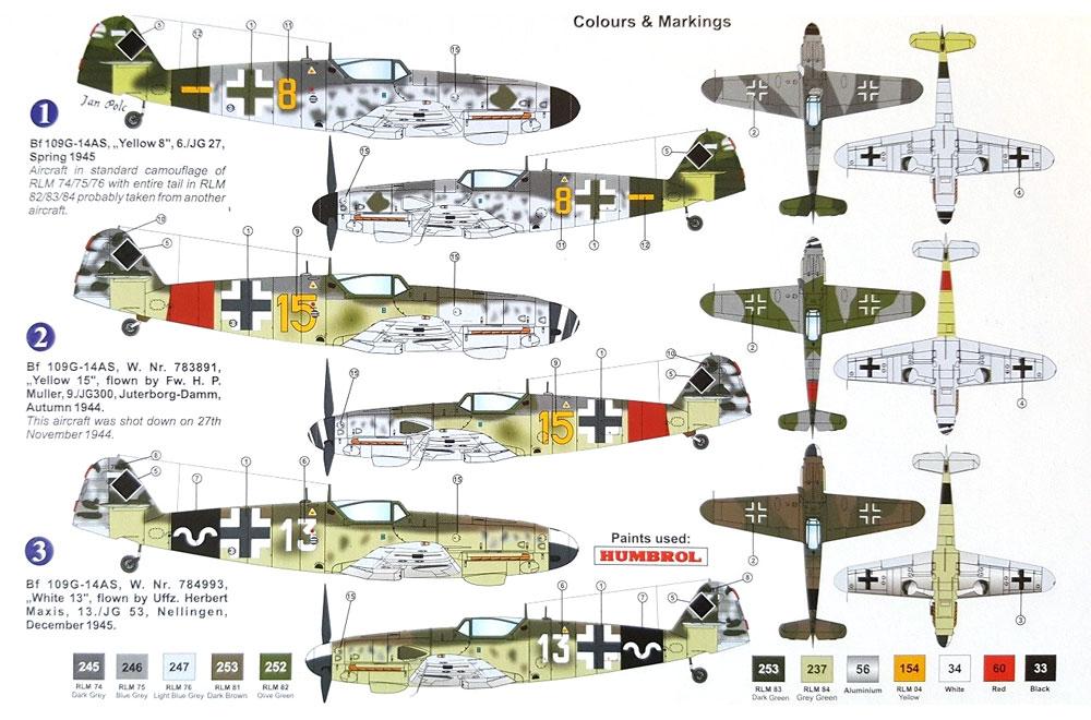 メッサーシュミット Bf109G-14AS 本土防衛プラモデル(AZ model1/72 エアクラフト プラモデルNo.AZ7642)商品画像_1