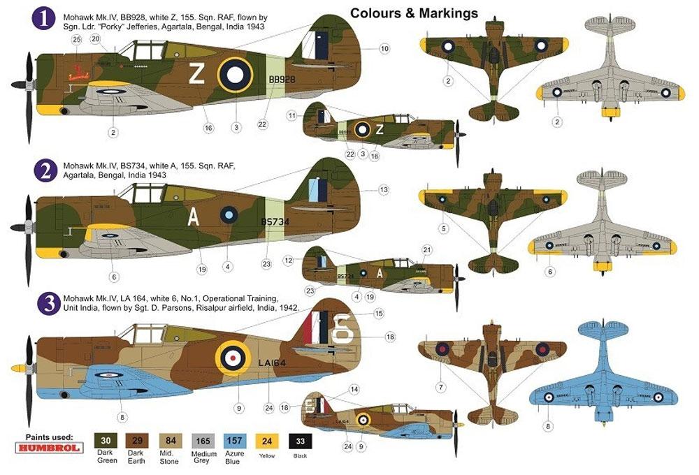 カーチス モホーク Mk.4 Over CBIプラモデル(AZ model1/72 エアクラフト プラモデルNo.AZ7643)商品画像_1
