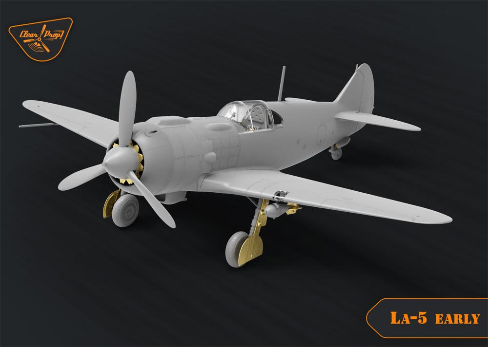 ラヴォーチキン La-5 戦闘機 初期型プラモデル(クリアープロップ1/72 スケールモデルNo.CP72014)商品画像_1