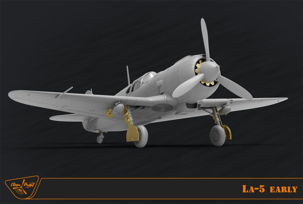 ラヴォーチキン La-5 戦闘機 初期型プラモデル(クリアープロップ1/72 スケールモデルNo.CP72014)商品画像_2