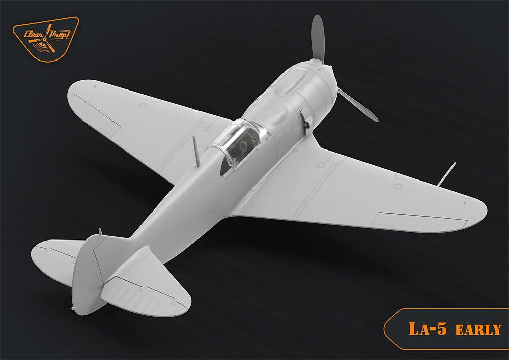 ラヴォーチキン La-5 戦闘機 初期型プラモデル(クリアープロップ1/72 スケールモデルNo.CP72014)商品画像_3