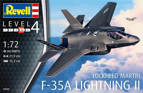 F-35A ライトニング 2プラモデル(レベル1/72 AircraftNo.03868)商品画像