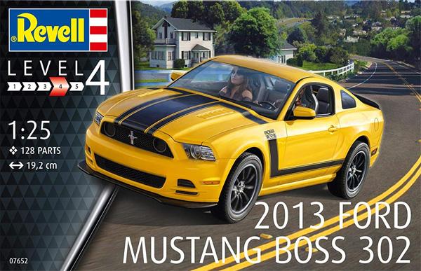 2013 フォード マスタング Boss 302プラモデル(レベルカーモデルNo.07652)商品画像