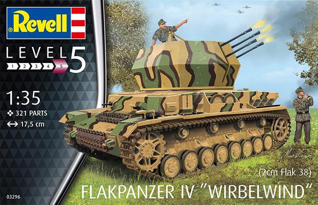 ドイツ 4号対空戦車 ヴィルベルヴィントプラモデル(レベル1/35 ミリタリーNo.03296)商品画像