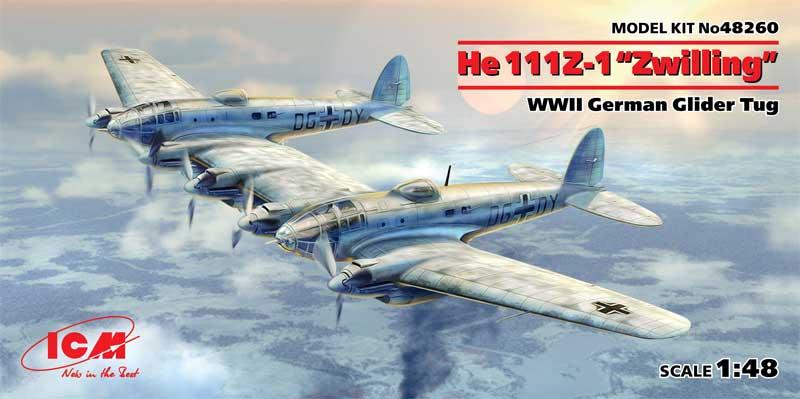 ハインケル He111Z-1 ツヴィーリンクプラモデル(ICM1/48 エアクラフト プラモデルNo.48260)商品画像