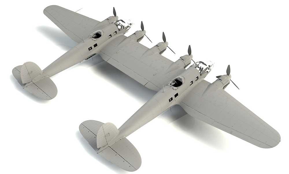 ハインケル He111Z-1 ツヴィーリンクプラモデル(ICM1/48 エアクラフト プラモデルNo.48260)商品画像_2