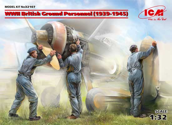 WW2 イギリス空軍 グランドクルー セット 1939-1945プラモデル(ICM1/32 エアクラフトNo.32107)商品画像