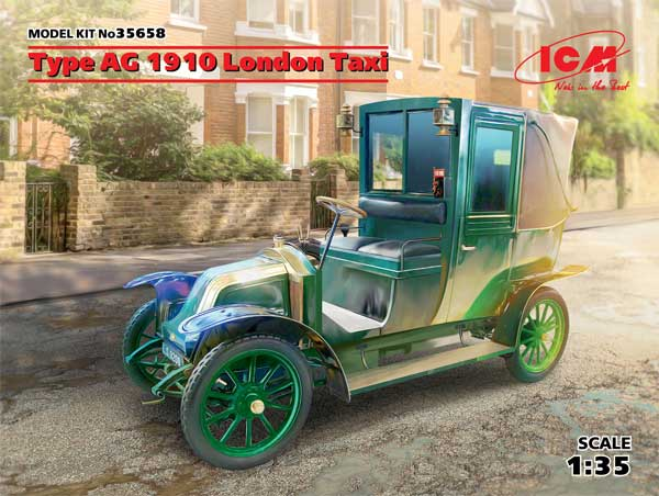 ルノー タイプ AG 1910年 ロンドンタクシープラモデル(ICM1/35 ミリタリービークル・フィギュアNo.35658)商品画像