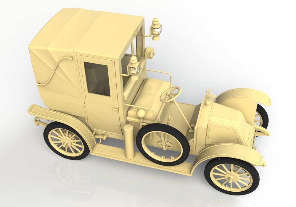 ルノー タイプ AG 1910年 ロンドンタクシープラモデル(ICM1/35 ミリタリービークル・フィギュアNo.35658)商品画像_2