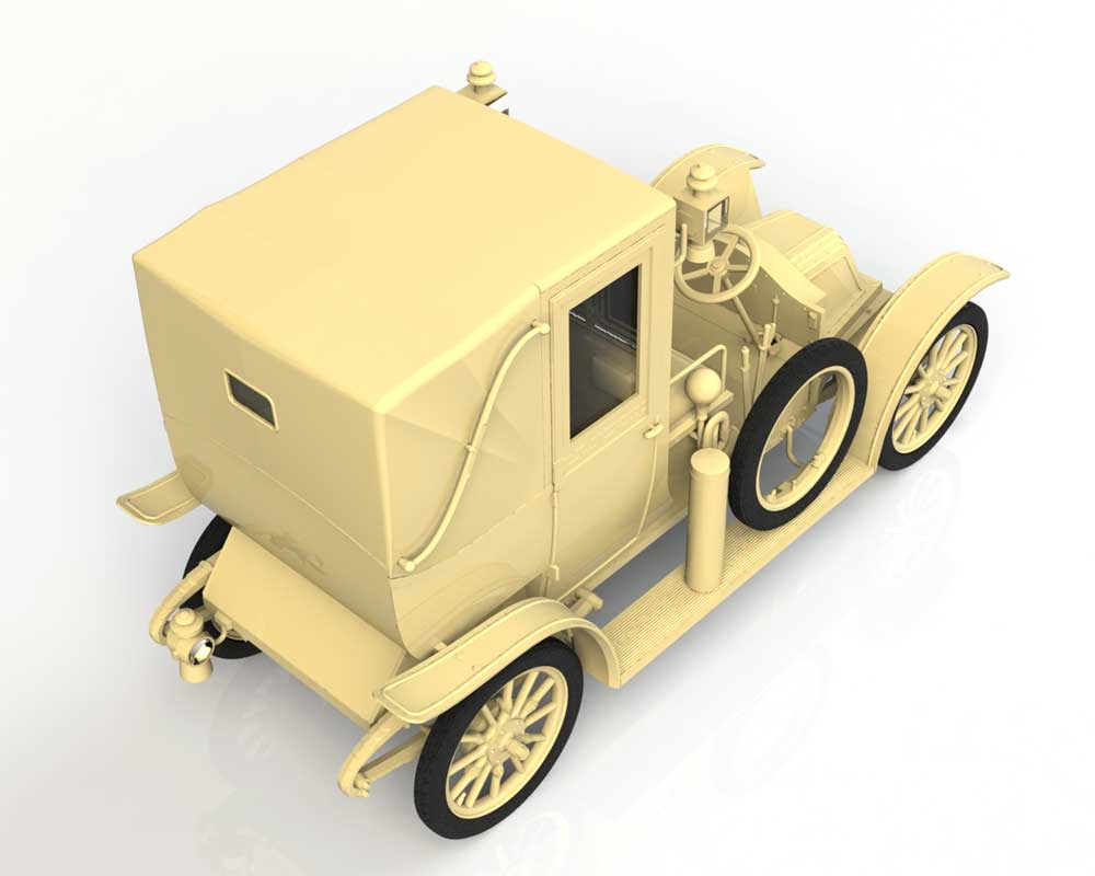 ルノー タイプ AG 1910年 ロンドンタクシープラモデル(ICM1/35 ミリタリービークル・フィギュアNo.35658)商品画像_3