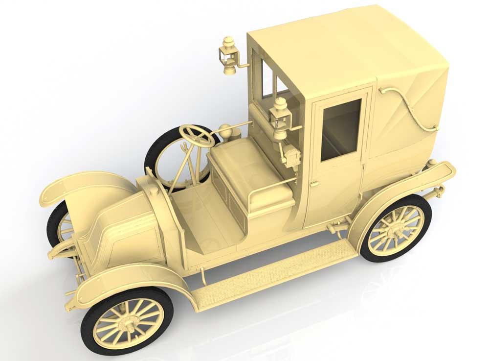 ルノー タイプ AG 1910年 ロンドンタクシープラモデル(ICM1/35 ミリタリービークル・フィギュアNo.35658)商品画像_4
