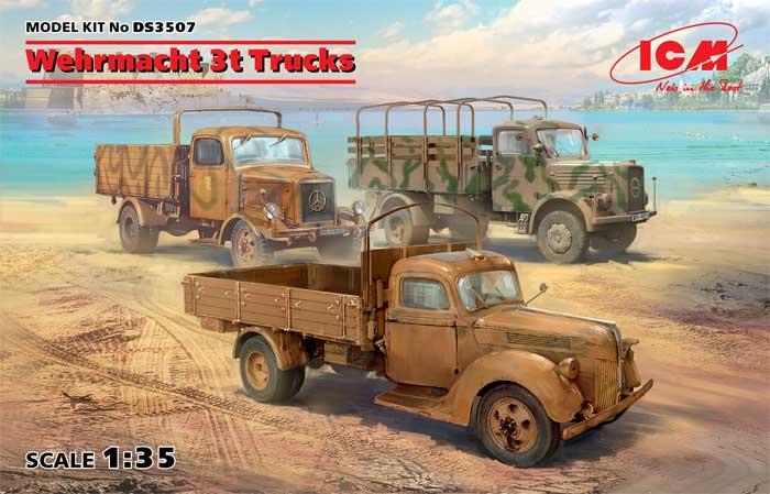 ドイツ国防軍 3t トラックセットプラモデル(ICMダイオラマセットNo.DS3507)商品画像