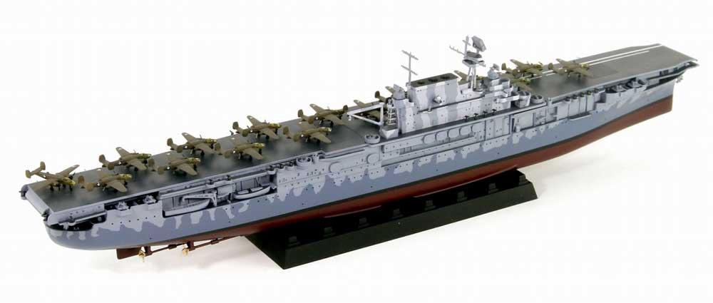 アメリカ海軍 ヨークタウン級航空母艦 CV-8 ホーネット 日本海軍 駆逐艦巻雲付き 限定版プラモデル(ピットロード1/700 スカイウェーブ W シリーズNo.W207SP)商品画像_2