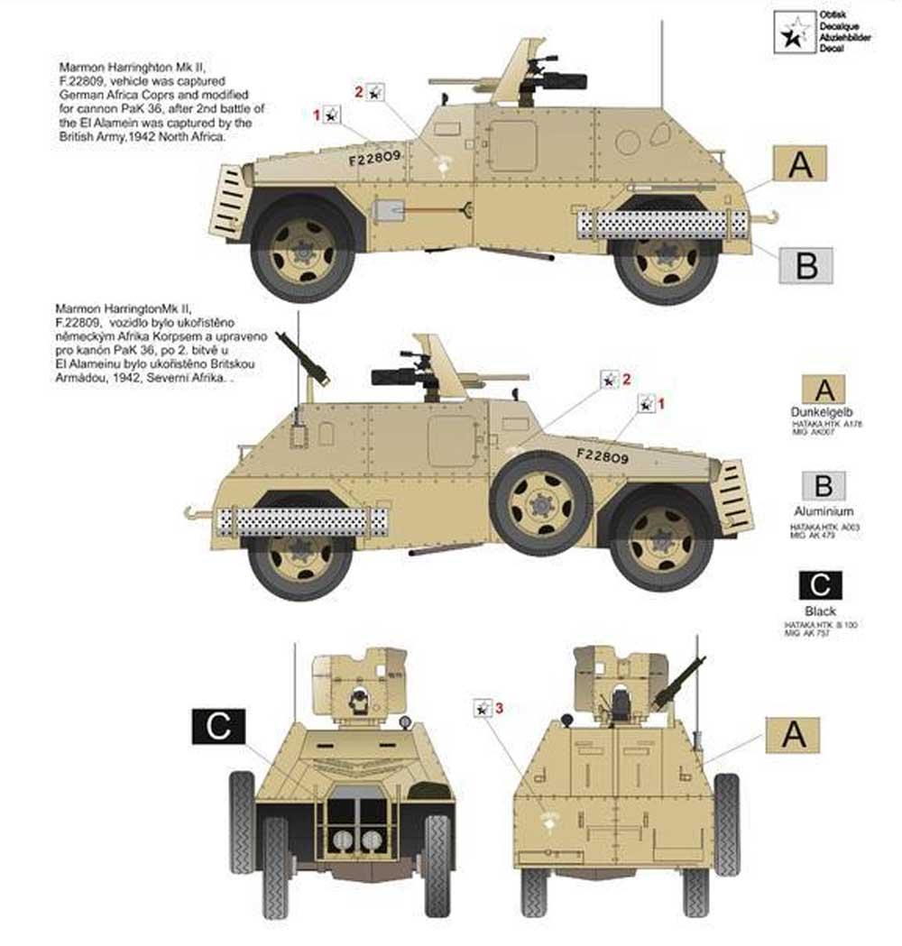 マーモン ヘリントン装甲車 Mk.2 w/PaK 36プラモデル(アタック1/72 AFV シリーズNo.72932)商品画像_2