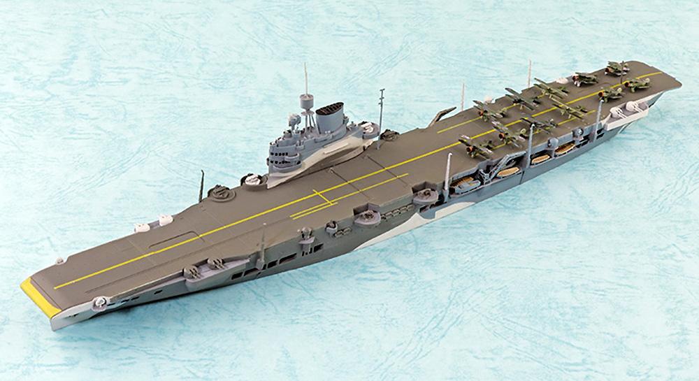 英国海軍 航空母艦 イラストリアス ベンガジ攻撃作戦プラモデル(アオシマ1/700 ウォーターラインシリーズNo.059418)商品画像_1