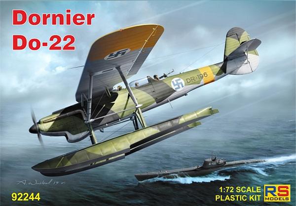 ドルニエ Do22 WW2 ドイツ、フィンランド、ラトビアプラモデル(RSモデル1/72 エアクラフト プラモデルNo.92244)商品画像