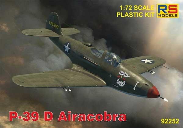 P-39D エアラコブラプラモデル(RSモデル1/72 エアクラフト プラモデルNo.92252)商品画像