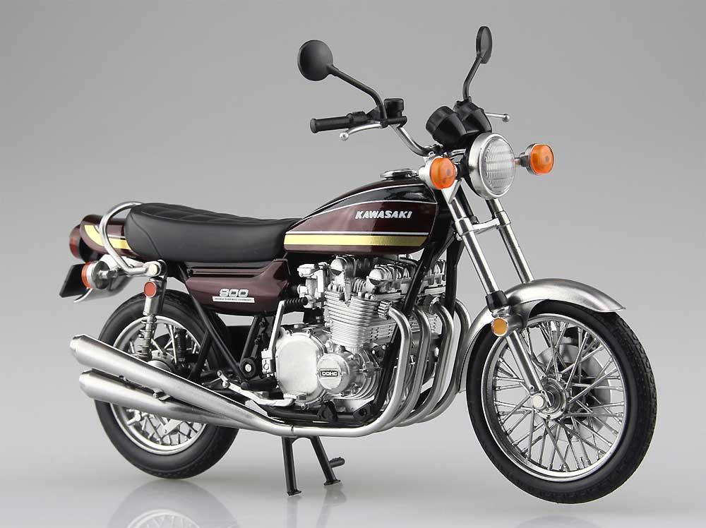 カワサキ 900 Super4 (Z1) 玉虫マルーン完成品(アオシマ1/12 完成品バイクシリーズNo.104606)商品画像_1