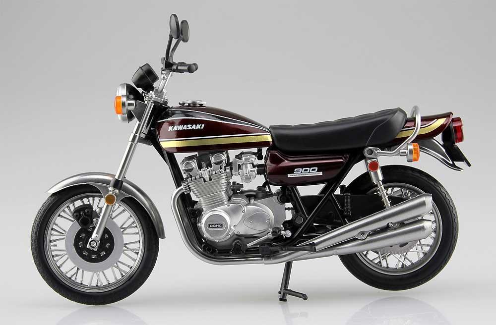 カワサキ 900 Super4 (Z1) 玉虫マルーン完成品(アオシマ1/12 完成品バイクシリーズNo.104606)商品画像_3
