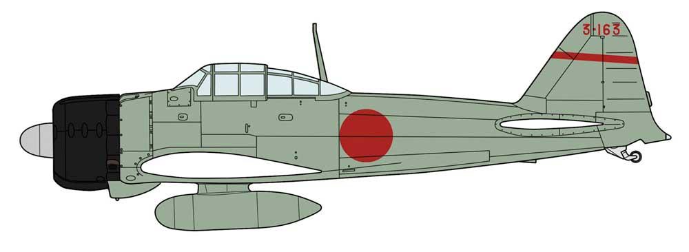 三菱 A6M2a 零式艦上戦闘機 11型 第12航空隊プラモデル(ハセガワ1/48 飛行機 限定生産No.07489)商品画像_2