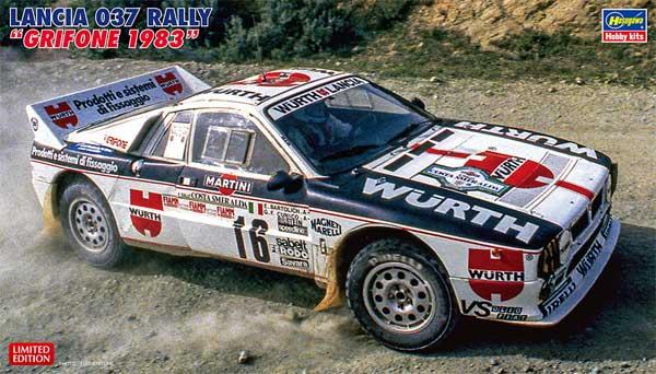 ランチア 037 ラリー グリフォーネ 1983プラモデル(ハセガワ1/24 自動車 限定生産No.20447)商品画像