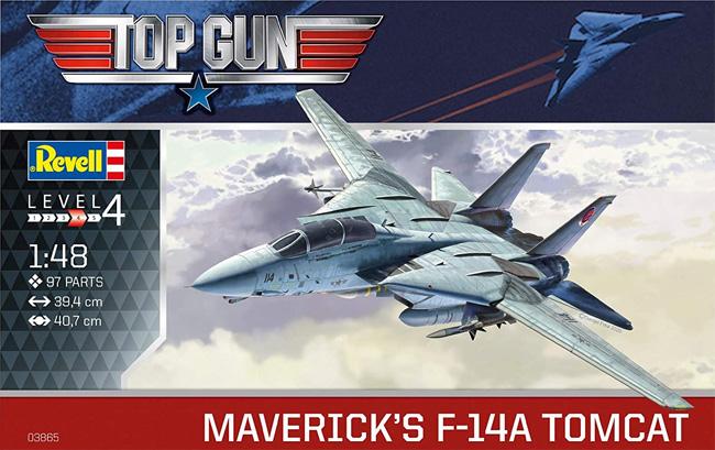 トップガン マーヴェリック F-14A トムキャットプラモデル(レベル1/48 飛行機モデルNo.03865)商品画像