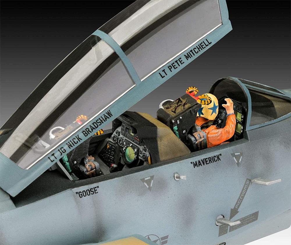 トップガン マーヴェリック F-14A トムキャットプラモデル(レベル1/48 飛行機モデルNo.03865)商品画像_3