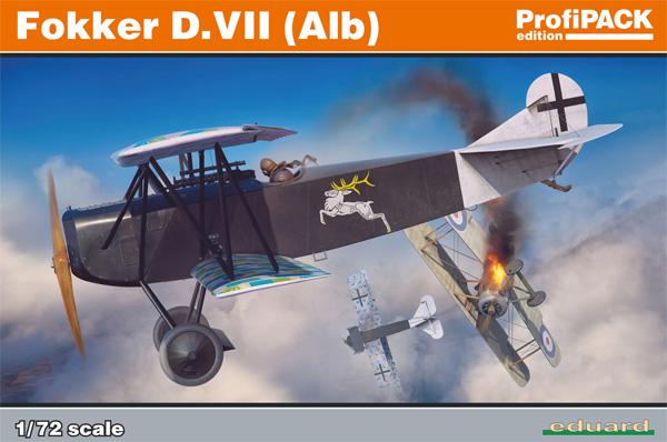 フォッカー D.7 (Alb)プラモデル(エデュアルド1/72 プロフィパックNo.70134)商品画像