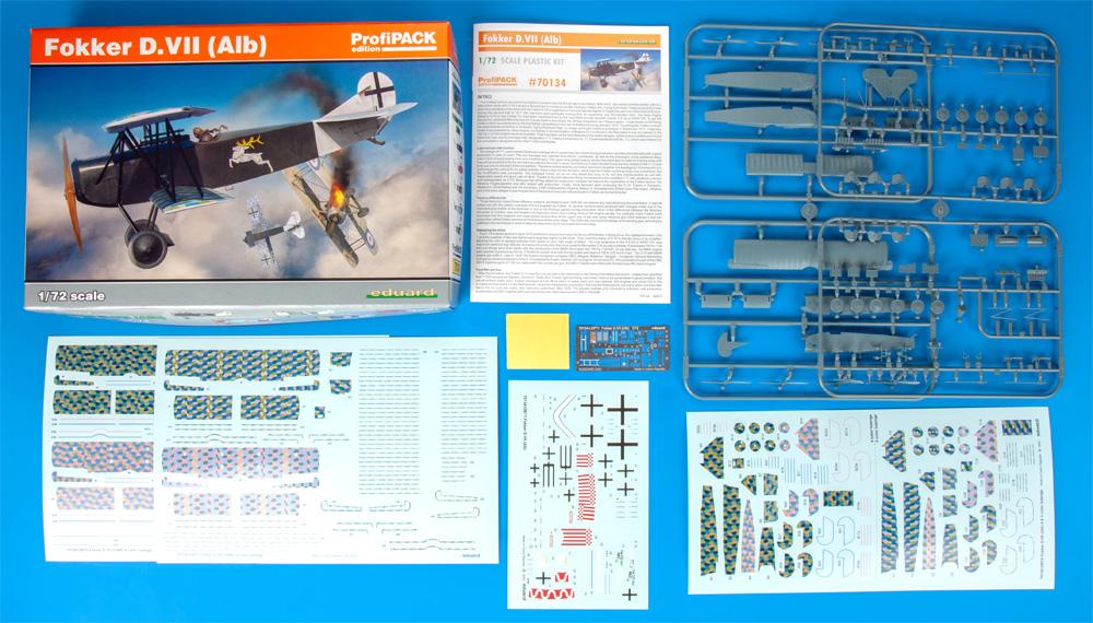 フォッカー D.7 (Alb)プラモデル(エデュアルド1/72 プロフィパックNo.70134)商品画像_1