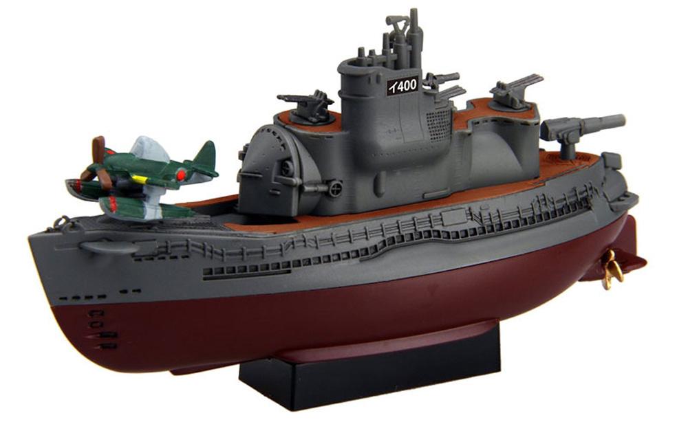ちび丸艦隊 伊400型潜水艦 2隻セット エッチングパーツ&木甲板シール付きプラモデル(フジミちび丸艦隊 シリーズNo.ちび丸017EX-1)商品画像_2