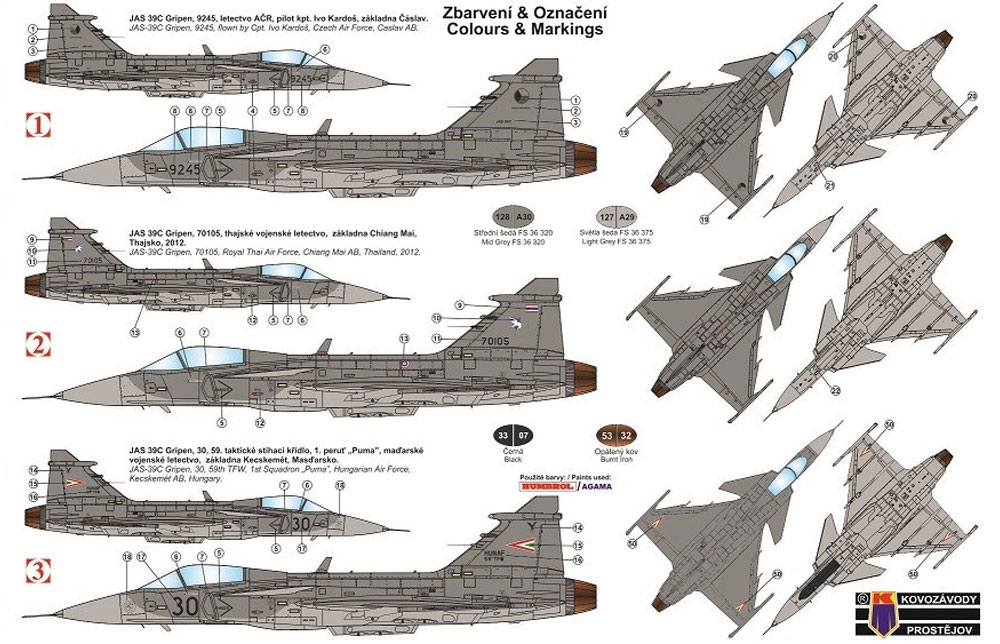 サーブ JAS-39 グリペン インターナショナルプラモデル(KPモデル1/72 エアクラフト プラモデルNo.KPM0161)商品画像_1