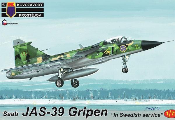 サーブ JAS-39 グリペン スウェーデンプラモデル(KPモデル1/72 エアクラフト プラモデルNo.KPM0162)商品画像