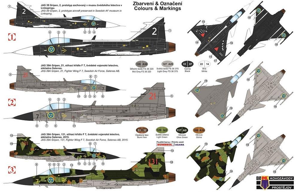 サーブ JAS-39 グリペン スウェーデンプラモデル(KPモデル1/72 エアクラフト プラモデルNo.KPM0162)商品画像_1