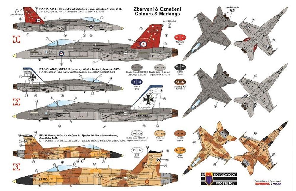 F-18A/C ホーネットプラモデル(KPモデル1/72 エアクラフト プラモデルNo.KPM0163)商品画像_1