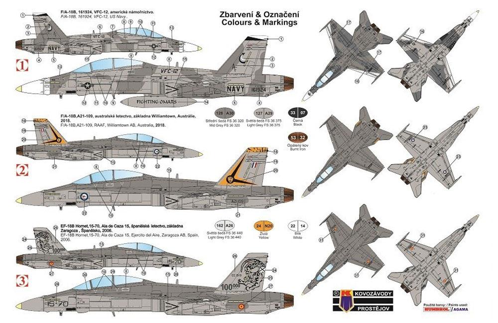 F-18B ホーネットプラモデル(KPモデル1/72 エアクラフト プラモデルNo.KPM0164)商品画像_1
