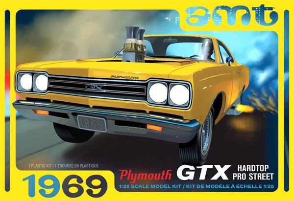 1969 プリムス GTX ハードトップ プロ・ストリートプラモデル(amt1/25 カーモデルNo.AMT1180M/12)商品画像