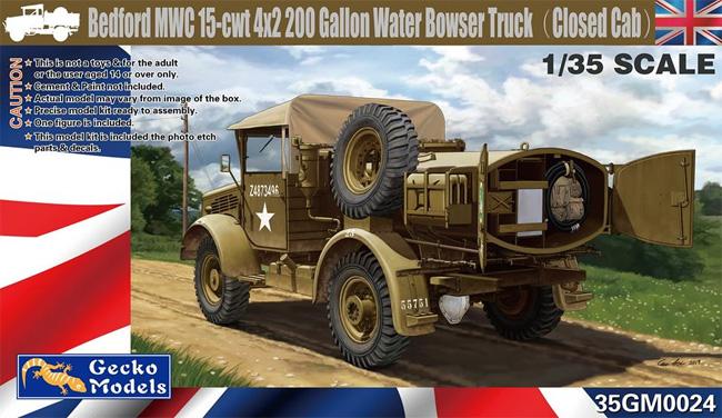 ベッドフォード MWC 15-cwt 4x2 200ガロン 給水トラック クローズキャブプラモデル(ゲッコーモデル1/35 ミリタリーNo.35GM0024)商品画像