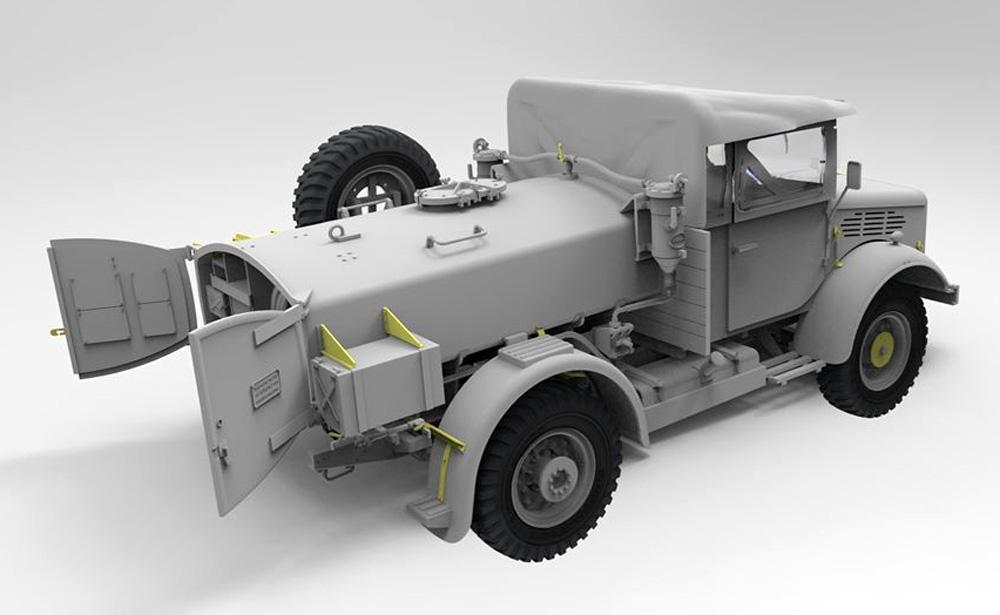 ベッドフォード MWC 15-cwt 4x2 200ガロン 給水トラック クローズキャブプラモデル(ゲッコーモデル1/35 ミリタリーNo.35GM0024)商品画像_3