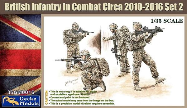 現用イギリス軍 歩兵 戦闘中 2010-2016年頃 セット2プラモデル(ゲッコーモデル1/35 ミリタリーNo.35GM0016)商品画像